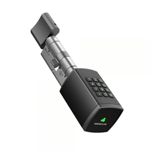 FortNovo BeeSecure Bee-Lock P1 Smart Lock elektronisches Türschloss mit Code in schwarz